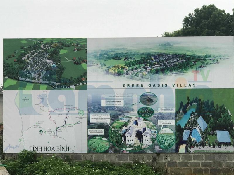 Green Oasis Villa: Chính quyền xã Nhuận Trạch đề nghị dừng thi công sau khi kiểm tra dự án