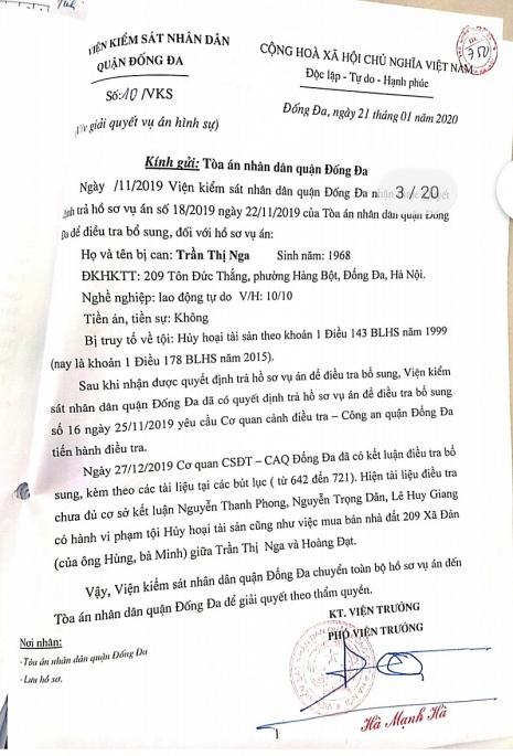 vien truong ngo hong son ban hanh thong bao so 10vks tiep tuc bao che bo lot khong khoi to nguoi co toi