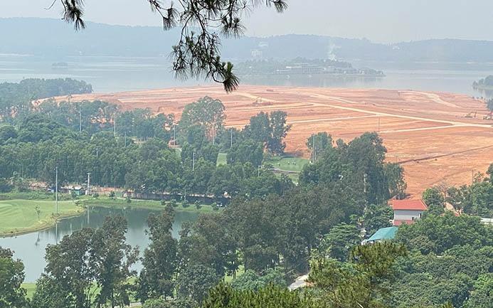 """Công ty TNHH Đại Lải Việt Nam """"bức tử"""" hồ Đại Lải làm khu biệt thự nghỉ dưỡng?"""