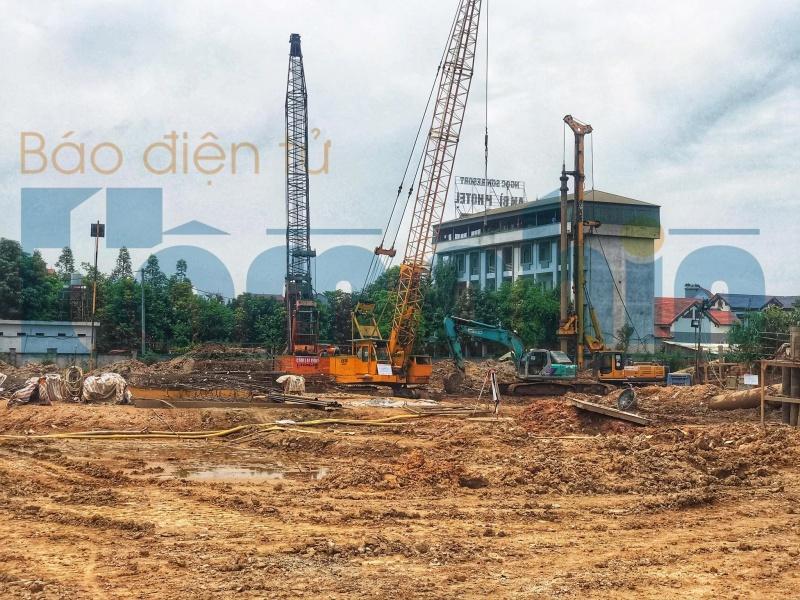 Sau 2 tháng bị xử phạt, dự án Tổ hợp khách sạn nghỉ dưỡng Wyndham Thanh Thủy vẫn chưa có GPXD