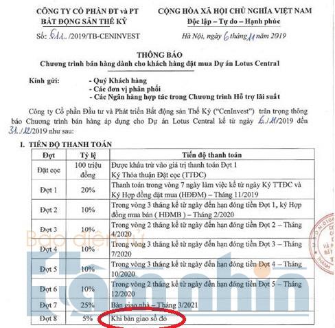 du an lotus central cenland noi co the cap so do cho du an con thoi han 33 nam