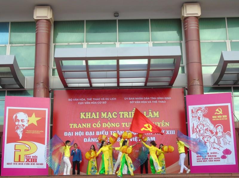 Bình Định: Triển lãm tranh cổ động tuyên truyền Đại hội đại biểu toàn quốc lần thứ XIII của Đảng