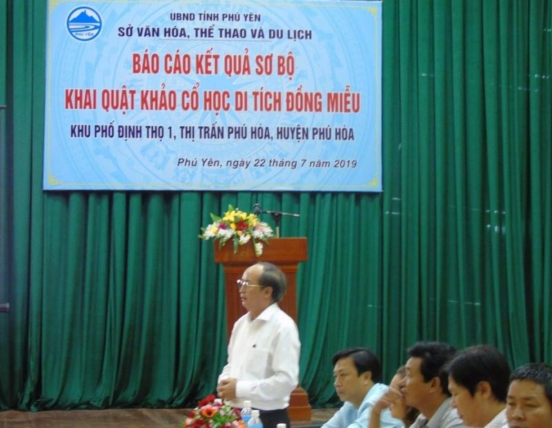 Phú Yên: Báo cáo Kết quả sơ bộ khai quật khảo cổ học Di tích Đồng Miễu