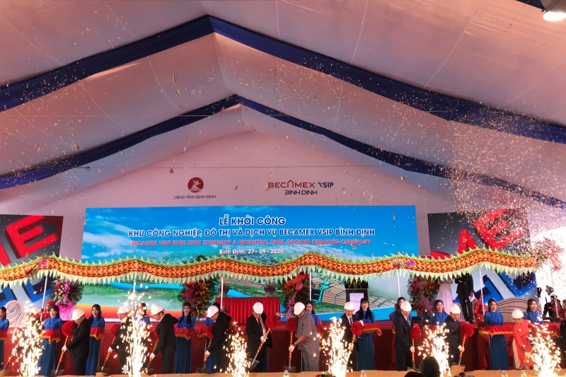 Bình Định: Khởi công xây dựng Khu công nghiệp, Đô thị và Dịch vụ Becamex VSIP Bình Định