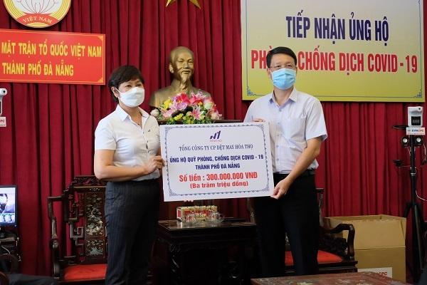 Nhiều doanh nghiệp ủng hộ tiền vào quỹ vaccine phòng chống Covid-19 của thành phố Đà Nẵng
