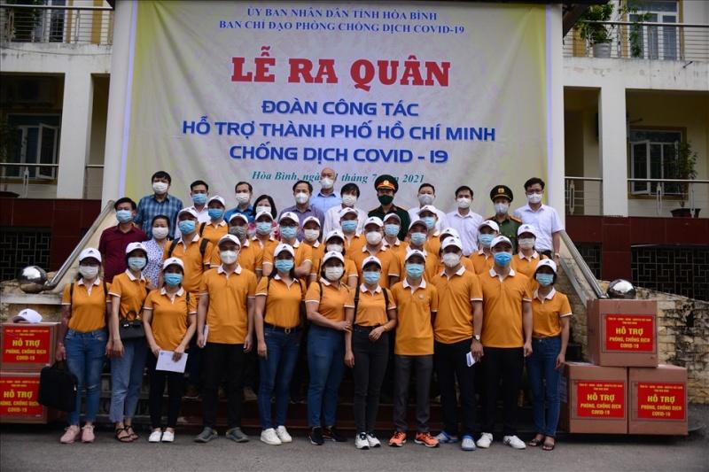 Đoàn công tác của tỉnh Hoà Bình hỗ trợ thành phố Hồ Chí Minh chống dịch COVID-19