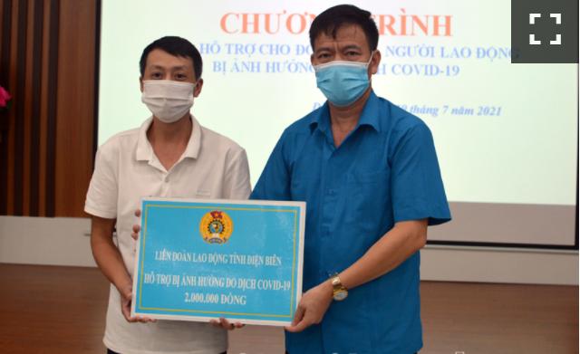 Điên Biên: Hỗ trợ người lao động khó khăn do dịch bệnh