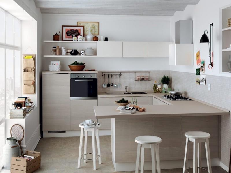 Mẫu nhà bếp nhỏ đẹp, đầy đủ tiện nghi cho chung cư