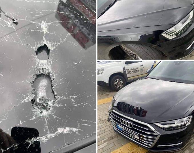 Xe của cố vấn Tổng thống Ukraine trúng đạn trong một vụ ám sát hụt