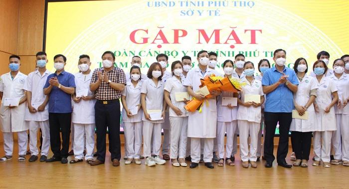 Phú Thọ: 52 cán bộ y tế tham gia hỗ trợ tỉnh Bình Dương chống dịch