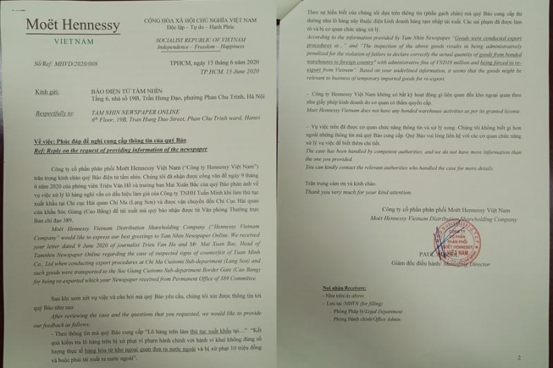 Henneyssy Việt Nam không liên quan đến lô hàng hơn 8 nghìn chai rượu có dấu hiệu làm giả?