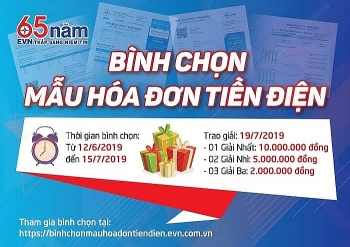 evn phat dong chuong trinh binh chon mau hoa don tien dien