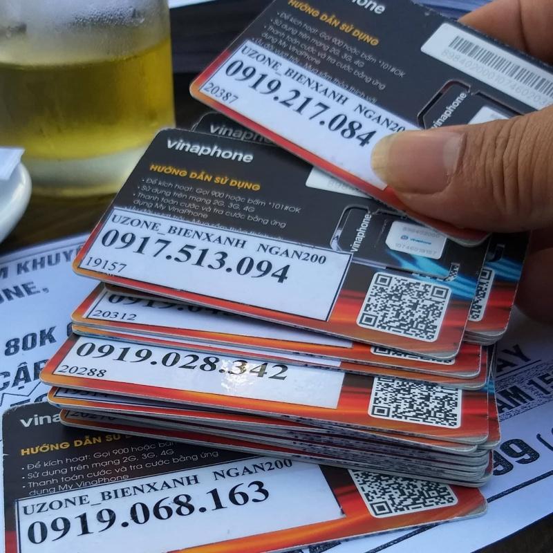 Sim kích hoạt trước của mạng Vinaphone bán công khai ở thành phố Huế