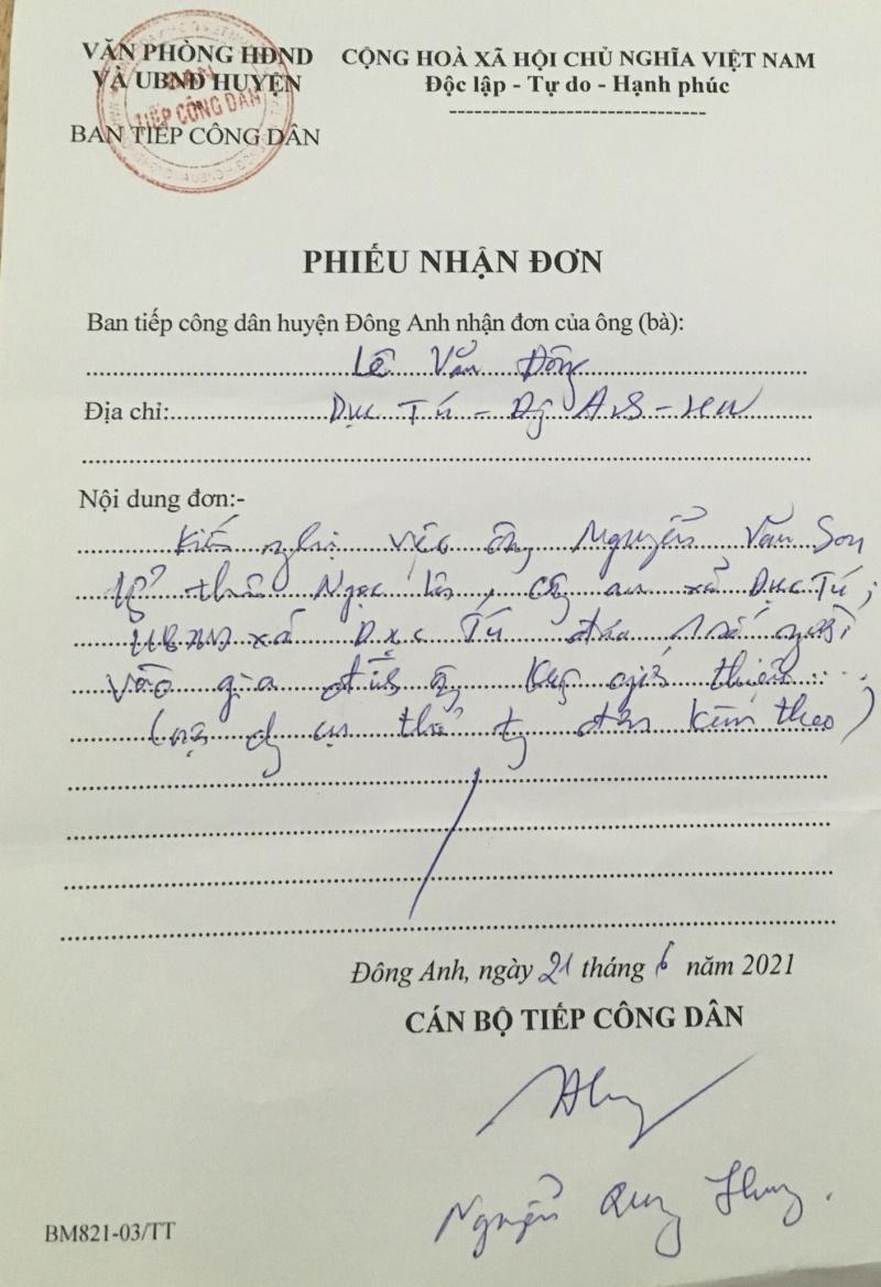 """Đông Anh, Hà Nội: Trưởng thôn tự tiện… khám nhà dân, Công an xã """"kiên quyết"""" không trả lời?"""