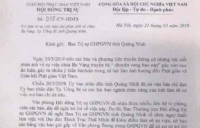 """Quảng Ninh: Nhiều cơ quan chức năng đang vào cuộc việc """"truyền bá chuyện vong báo oán"""" tại chùa Ba Vàng"""