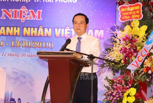 Đảng ủy Khối doanh nghiệp TP. Hải Phòng tiếp xúc nhân kỷ niệm Ngày doanh nhân Việt Nam