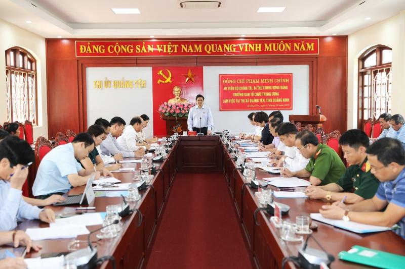 Trưởng Ban Tổ chức Trung ương làm việc tại Quảng Ninh