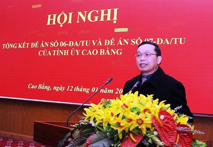 cao bang 27 tap the ca nhan duoc tang bang khen co thanh tich xuat sac trong thuc hien de an so 06 07 cua tinh uy