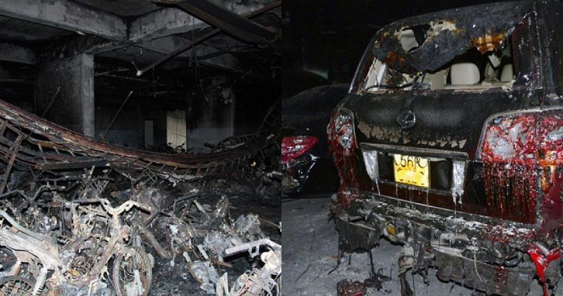 Mô phỏng 13 phút lửa bùng phát trong hầm chung cư Carina