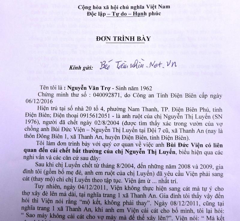 """Điện Biên: Vụ chết người do """"tự tử"""", sau 14 năm """"nói"""" lên sự thật (?!)"""