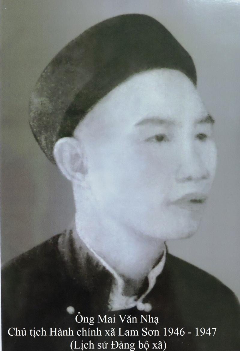 Đôi điều về ông Mai Văn Nhạ - Vị chủ tịch đầu tiên của xã Lam Sơn, huyện Thanh Miện, tỉnh Hải Dương (1946 – 1947)
