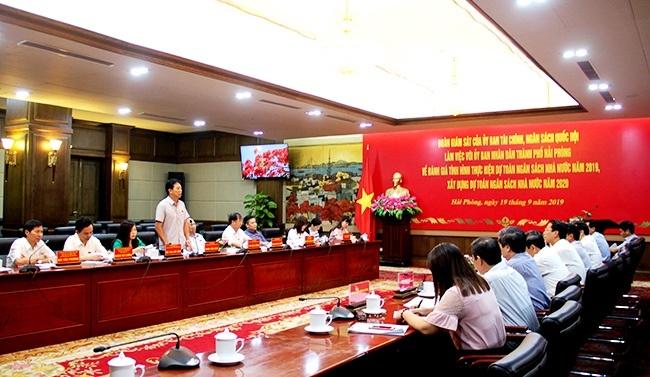 Hải Phòng: Đoàn giám sát Ủy ban Tài chính, Ngân sách Quốc hội làm việc tại Hải Phòng