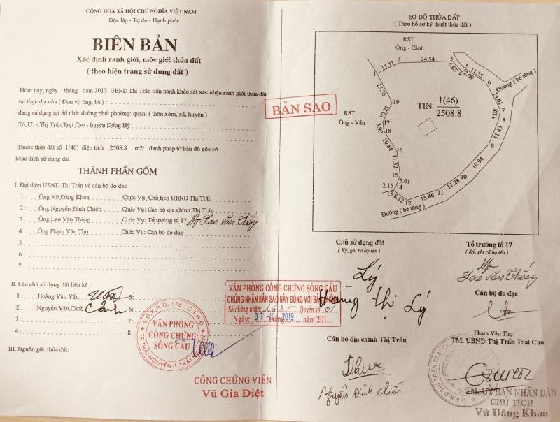 Thái Nguyên: Có hay không vụ mua bán tài liệu nhà nước giá trị ở thị trấn Trại Cau?