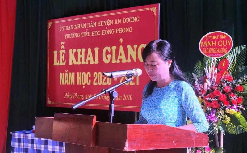 Hải Phòng: Trường Tiểu học Hồng Phong long trọng tổ chức lễ khai giảng năm học mới 2020-2021