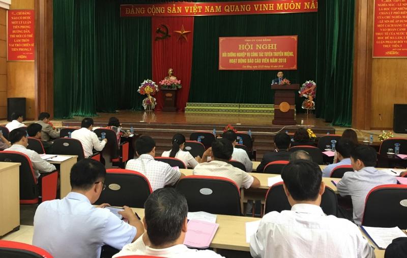 Tỉnh ủy Cao Bằng tổ chức bồi dưỡng nghiệp vụ công tác tuyên truyền miệng, hoạt động báo cáo viên