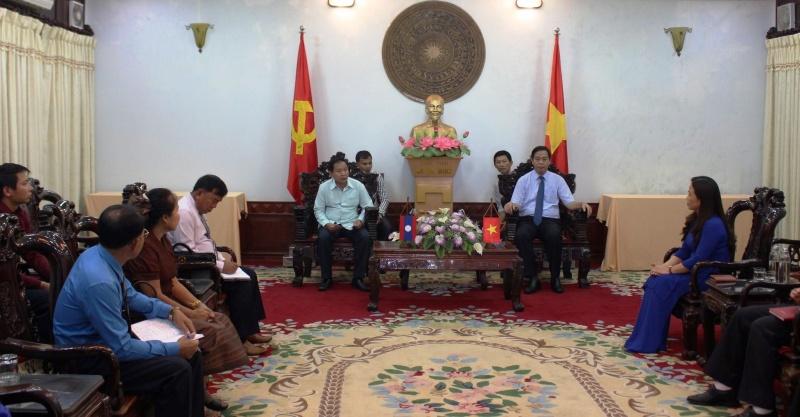 Ủy ban Mặt trận Lào xây dựng đất nước tỉnh Salavan - Lào làm việc với tỉnh Quảng Trị