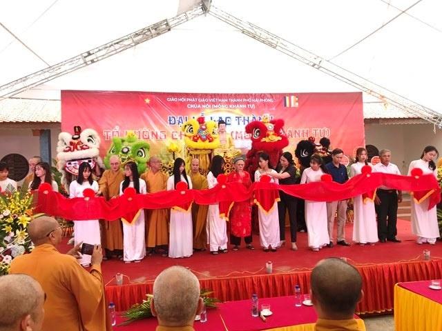Hải Phòng: Lễ cắt băng khánh thành ngôi Tổ Đường chùa Nội Mông Khánh tự