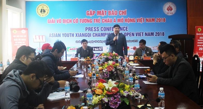 Ban Tổ chức thông tin về Giải vô địch Cờ tướng trẻ Châu Á mở rộng Việt Nam 2018 tại Quảng Ninh