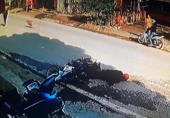 Cao Bằng: Chó thả rông chạy ngang qua đường khiến người đi xe máy ngã xấp mặt