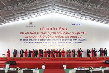 thaco dau tu 2600 ty dong mo rong ben cang 5 van tan cang chu lai
