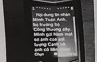 nguoi tu xung bo truong bo cong thuong tran tuan anh co hanh vi la de doa den su an toan cua cong dan