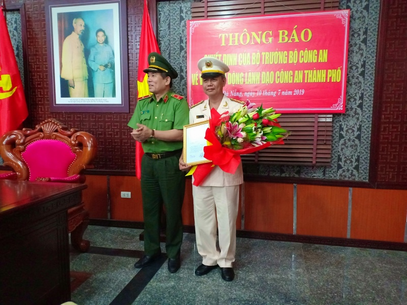 Phó Giám đốc Công an TP Đà Nẵng được điều động về Thanh tra Bộ Công an
