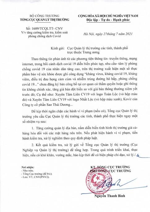kiem soat chat san pham bao ve suc khoe ghi cong dung khang virus khang covid 19