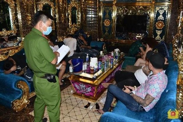 Tiền Giang: Phát hiện hàng chục đối tượng sử dụng ma túy tại quán karaoke