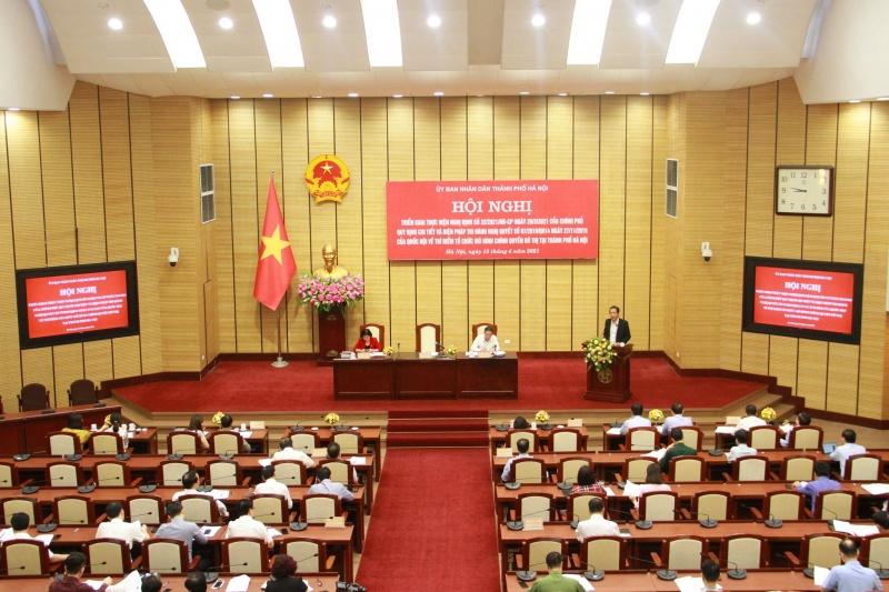 Thí điểm tổ chức mô hình chính quyền đô thị tại TP Hà Nội