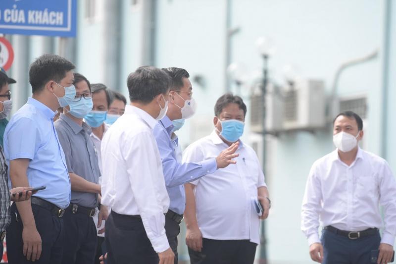 CT UBND TP Hà Nội kiểm tra việc thực hiện phong toả Bệnh viện K tại cơ sở Tân Triều và cơ sở Tam Hiệp