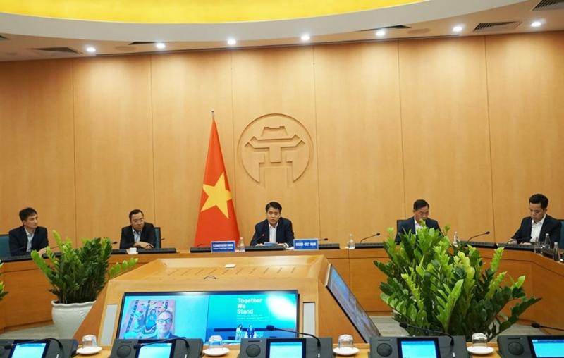 Hà Nội chia sẻ kinh nghiệm phòng chống Covid -19 với thị trưởng các thành phố lớn trên thế giới