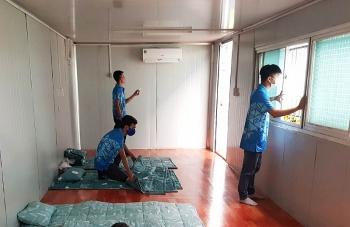 lap container van phong cho cong nhan o lai nha may