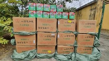 bien phong lao cai thu giu gan 700 kg phao hoa lau
