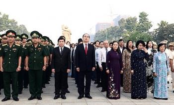 Lãnh đạo Thành phố Hồ Chí Minh dâng hương tưởng niệm các Anh hùng Liệt sỹ
