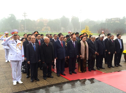 Lãnh đạo Đảng, Nhà nước vào Lăng viếng Chủ tịch Hồ Chí Minh nhân dịp Tết Nguyên đán Canh Tý