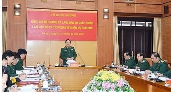 bo truong bo quoc phong ngo xuan lich lam viec voi bo tong tham muu ve trien khai nhiem vu nam 2020