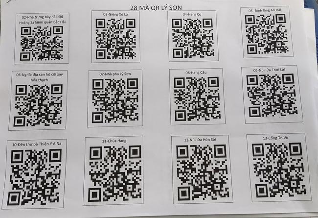 Gắn mã QR cho các điểm du lịch tại huyện đảo Lý Sơn, Quảng Ngãi