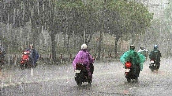 Không khí lạnh sẽ gây mưa rào và dông rải rác ở Bắc Bộ, Trung Bộ