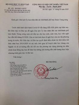 bo giao duc va dao tao hoc sinh sinh vien ca nuoc co the nghi hoc den het thang 22020