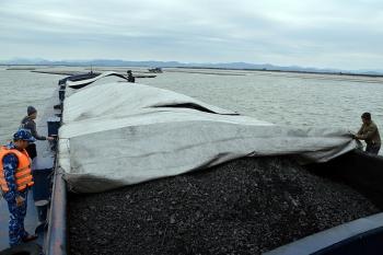 Bộ Tư lệnh Vùng Cảnh sát biển 1 tạm giữ 700m3 than không rõ nguồn gốc